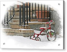 Tricycle Acrylic Print by Judy Deist