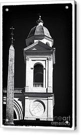 Trinita Church Tower Acrylic Print by John Rizzuto