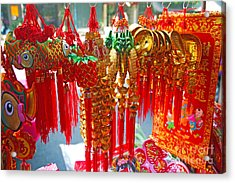 Acrylic Print featuring the photograph Trinkets by Thanh Tran