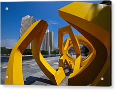 Acrylic Print featuring the photograph Trio On The Plaza by John Schneider
