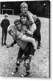 Triple Piggyback Ride Acrylic Print by Archive Photos