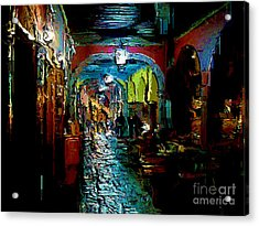 Acrylic Print featuring the digital art Trippin In San Miguel by John  Kolenberg