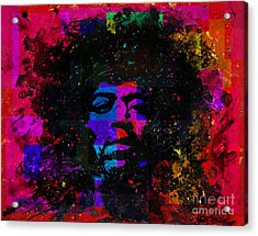 Tripping With Hendrix Acrylic Print by Chris Mackie