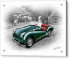 Triumph Tr-2 Sports Car Acrylic Print by David Kyte