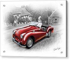 Triumph Tr-2 Sports Car In Red Acrylic Print