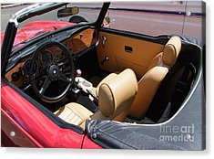Triumph Tr6 Seats Acrylic Print