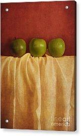 Trois Pommes Acrylic Print by Priska Wettstein