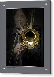 Acrylic Print featuring the photograph Trombone by Pedro L Gili