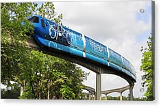 Tron A Rail Acrylic Print by David Lee Thompson