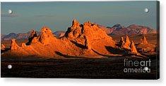 Trona Pinnacles Panorama Acrylic Print by Bob Christopher
