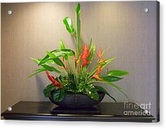 Tropical Arrangement Acrylic Print by Mary Deal