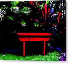 Acrylic Print featuring the digital art Tropical Dreams by Glenna McRae