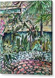 Tropical Garden Acrylic Print by Mindy Newman