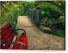 Tropical Garden Pathway Acrylic Print