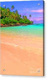 Tropical Island 3 - Painterly Acrylic Print by Wingsdomain Art and Photography