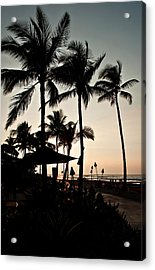 Acrylic Print featuring the photograph Tropical Island Silhouette Beach Sunset by Valerie Garner