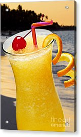Tropical Orange Drink Acrylic Print