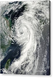 Tropical Storm Dianmu Acrylic Print by Stocktrek Images