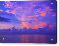 Acrylic Print featuring the photograph Tropical Sunset 3- St Lucia by Chester Williams