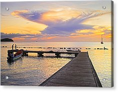 Acrylic Print featuring the photograph Tropical Sunset- 4- St Lucia by Chester Williams