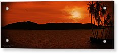 Tropical Sunset Acrylic Print by Lourry Legarde