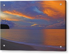 Acrylic Print featuring the photograph Tropical Sunset- St Lucia by Chester Williams