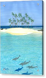 Tropical Tranquility  Acrylic Print by Jackie Novak