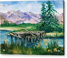 Troubled Bridge Over Water Acrylic Print