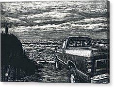 Truck At Nantucket Acrylic Print by Robert Goudreau