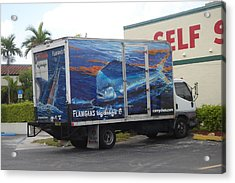 Truck Wraps Acrylic Print by Carey Chen