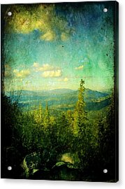 Truckee Trails Acrylic Print by Leah Moore