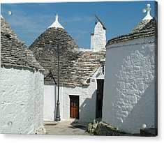 Acrylic Print featuring the photograph Trulli Houses Alberobello Italy by Joseph Hendrix