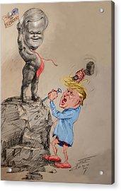 Trump Shaping Up The Future Acrylic Print