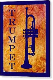 Trumpet Acrylic Print by Jenny Armitage
