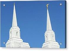 Trumpeting The Arrival Of The Lord Acrylic Print by Gary Baird