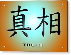 Truth Acrylic Print