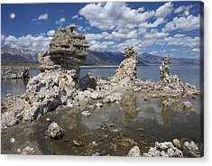 Tufa And Clouds Acrylic Print