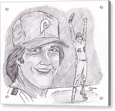 Tug Mcgraw Acrylic Print by Chris  DelVecchio