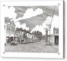 Tularosa Nm Main Street Acrylic Print by Jack Pumphrey