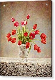 Acrylic Print featuring the photograph Tulip Bouquet by Cheryl Davis
