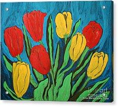 Tulips Acrylic Print by Anna Folkartanna Maciejewska-Dyba