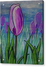 Tulips In The Mist Acrylic Print