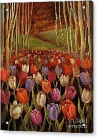 Tulips In The Woods Acrylic Print