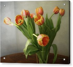 Acrylic Print featuring the photograph Tulips by Joan Bertucci