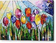 Tulips On Parade Acrylic Print