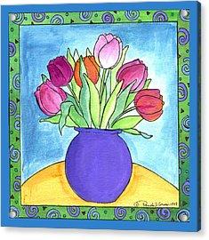 Tulips Acrylic Print by Pamela  Corwin