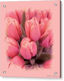 Tulips Splash Acrylic Print by Debra     Vatalaro