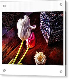 Tulips With Jeweled Chest Acrylic Print