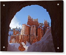 Tunnel In The Rock Acrylic Print