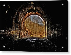 Tunnel Of Gold Acrylic Print by Shirley Tinkham